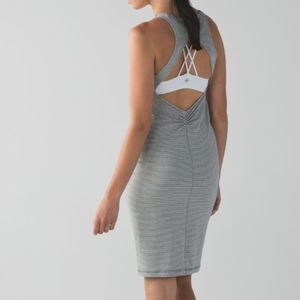 Lululemon Gray Striped Go For It Dress Size 10